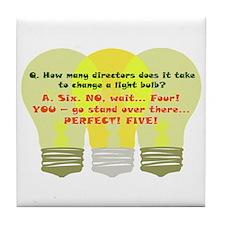 Director Light Bulb Tile Coaster