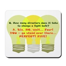 Director Light Bulb Mousepad