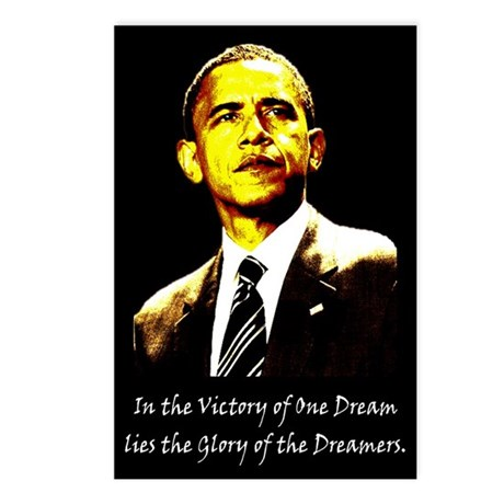 Obama Victory of a Dream Postcards (Package of 8)
