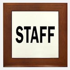 Staff Framed Tile