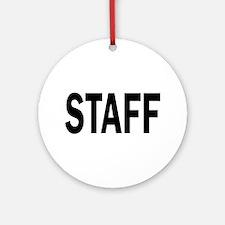 Staff Ornament (Round)