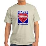 I Love Fried Chicken Ash Grey T-Shirt