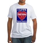 I Love Fried Chicken Fitted T-Shirt