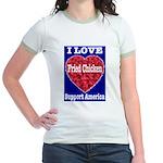 I Love Fried Chicken Jr. Ringer T-Shirt