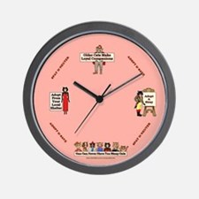"""Time is running out"" Wall Clock"