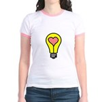 THINK LOVE Jr. Ringer T-Shirt