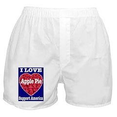 I Love Apple Pie Boxer Shorts