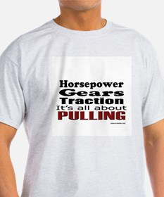 Traction Puller Ash Grey T-Shirt