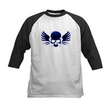 Winged skull blue Tee