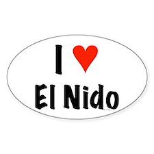 I love El Nido Oval Decal