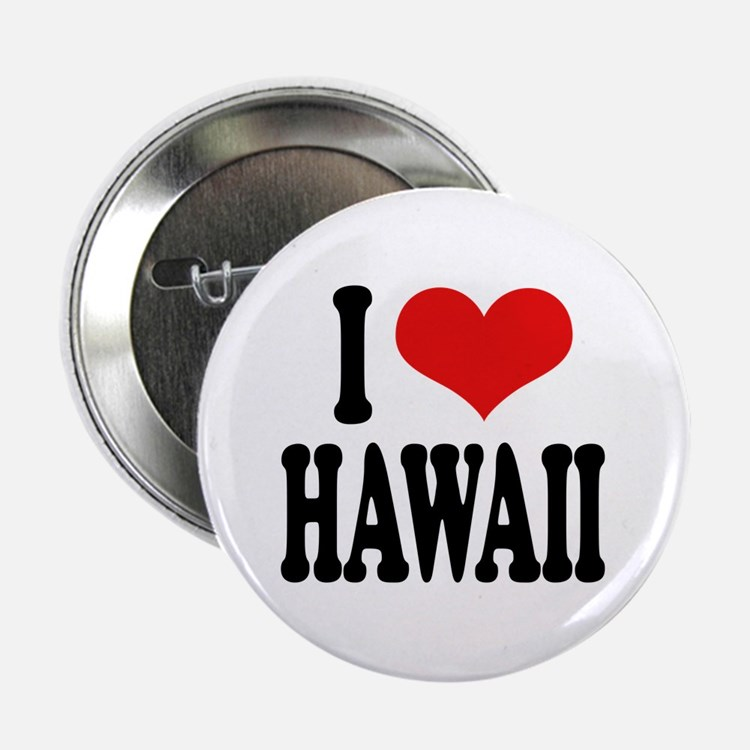 """I Love Hawaii 2.25"""" Button (10 pack)"""