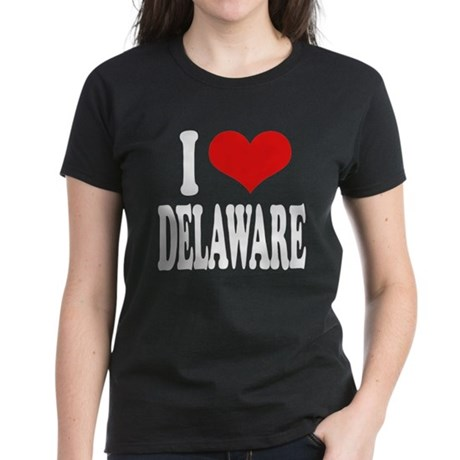 I Love Delaware Women's Dark T-Shirt