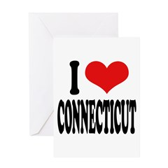 I Love Connecticut Greeting Card