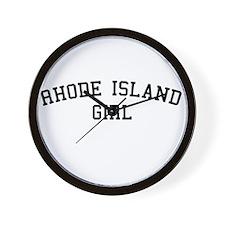 Rhode Island Girl Wall Clock