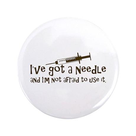 """Nurse & Diabetes 3.5"""" Button"""