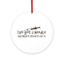 Nurse & Diabetes Ornament (Round)