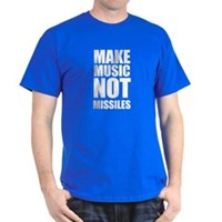 Make Music Not Missiles Dark T-Shirt