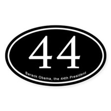 Obama, 44th President Oval Decal