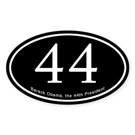 Obama, 44th President Oval Sticker