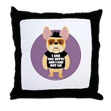 DOG BUTTS Fr. Bulldog Throw Pillow