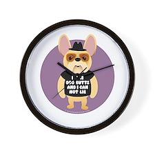 DOG BUTTS Fr. Bulldog Wall Clock