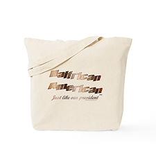 Halfrican like Obama Tote Bag