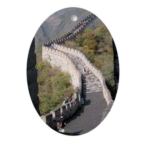 Great Wall of China - Holiday Ornament Oval