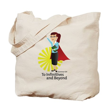 Grammar Girl To Infinitives Tote Bag