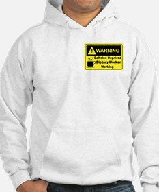 Caffeine Warning Dietary Worker Hoodie