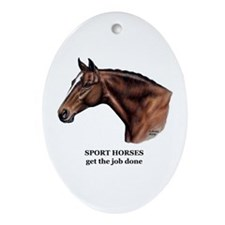 Sport Horse Ornament (Oval)