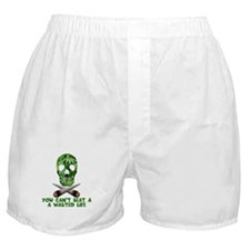 Funny Weed wasted Boxer Shorts