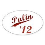 Classic Palin 2012 Oval Sticker (10 pk)