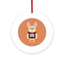 LEG MAN Fr. Bulldog Ornament (Round)
