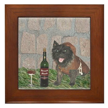 Monastic Cairn Terrier Framed Tile