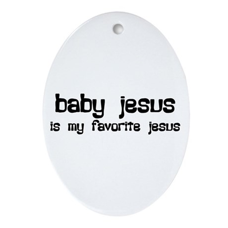 """Baby Jesus"" Oval Ornament"