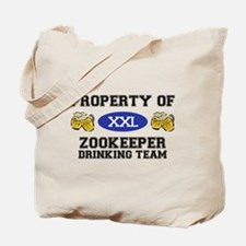 Property of Zookeeper Drinking Team Tote Bag