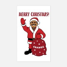 Merry Christmas Obama Rectangle Decal