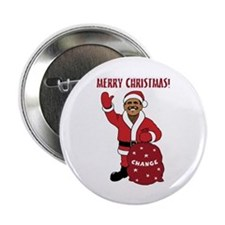 "Merry Christmas Obama 2.25"" Button"
