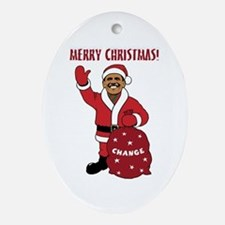 Merry Christmas Obama Oval Ornament