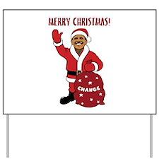 Merry Christmas Obama Yard Sign