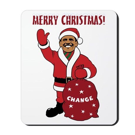 Merry Christmas Obama Mousepad