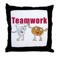 Cute Teamwork Throw Pillow