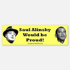 """Student Of Alinsky"" Bumper Bumper Bumper Sticker"