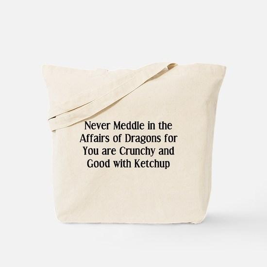 Never Dragons Tote Bag