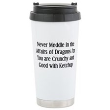 Never Dragons Stainless Steel Travel Mug