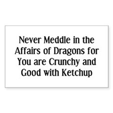 Never Dragons Bumper Stickers