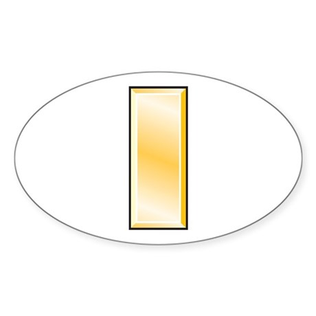 Second Lieutenant Oval Sticker