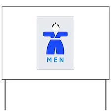 Men toilet, Japan Yard Sign