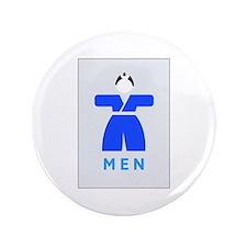 """Men toilet, Japan 3.5"""" Button"""