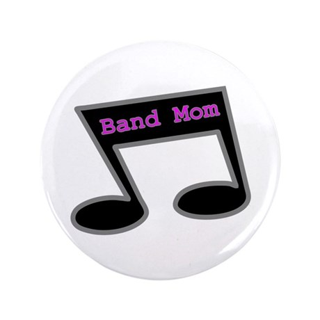 """Music Note Band Mom 3.5"""" Button"""